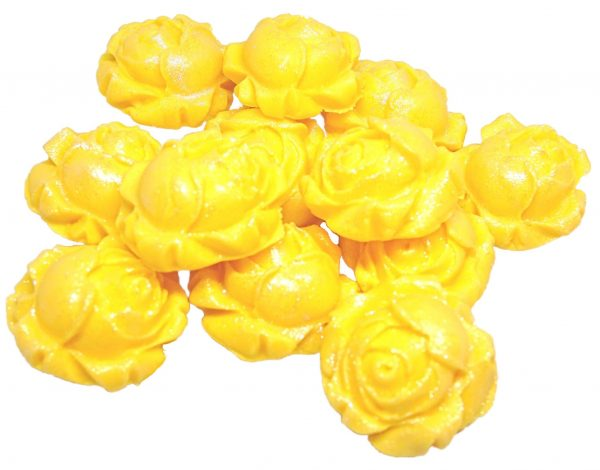 Yellow Rose buds edible flowers