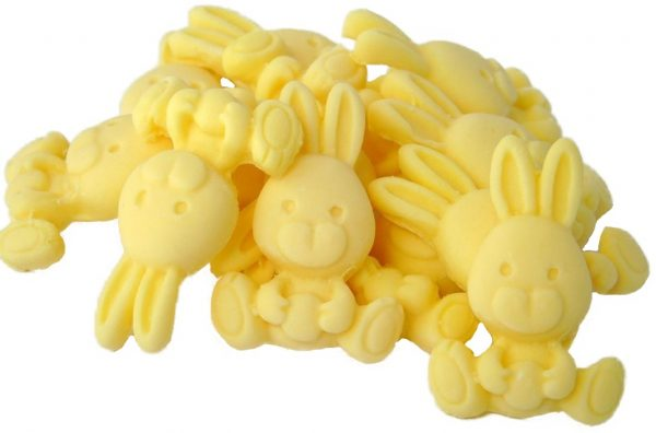 yellow rabbits cupcake cake edible topper decorations