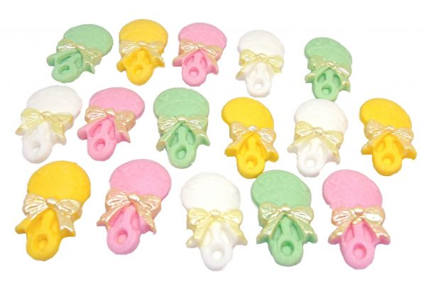 16 Girl mix f rattles edible cupcake toppers
