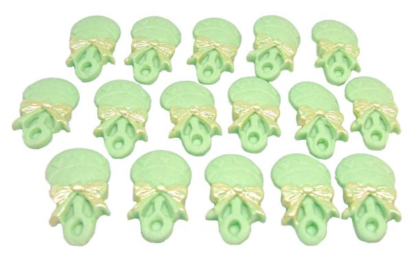 16 green f rattles edible cupcake toppers