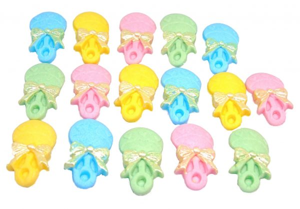 16 Mix 1 F rattles edible cupcake toppers