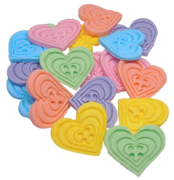 Mixed heart-shaped-buttons cupcake toppers cake decorations