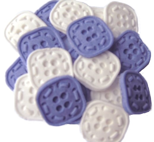 Purple White Buttons Cupcake topper edible decorations