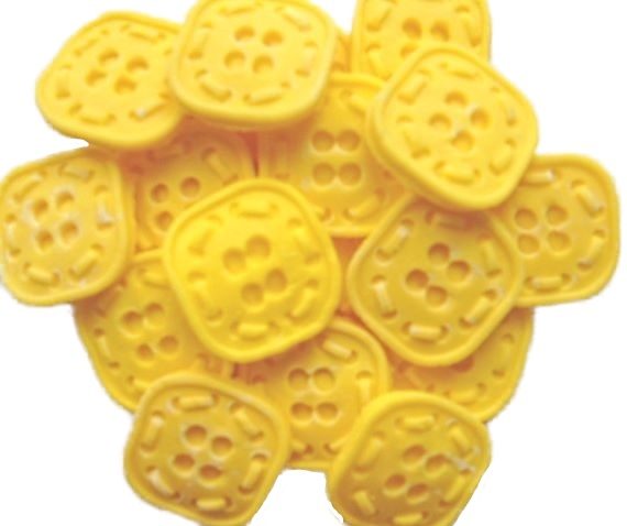 Yellow Buttons Cupcake topper edible decorations