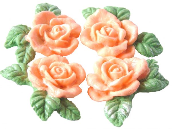Peach n Garlands cake decorations