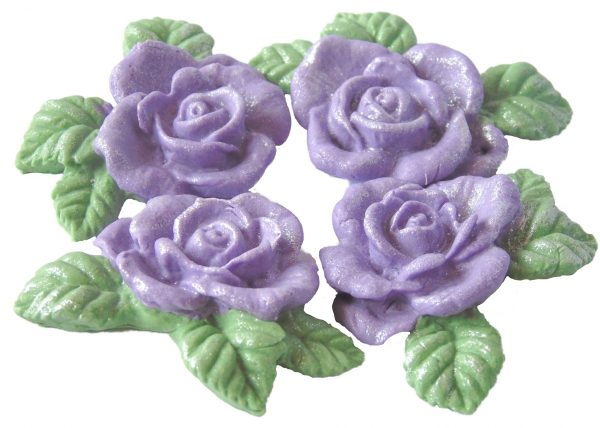 Purple n Garlands cake decorations