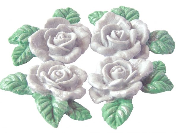 Silver n Garlands cake decorations