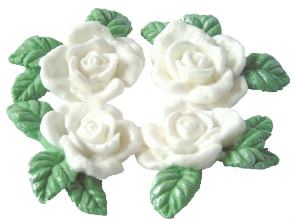 White n Garlands cake decorations