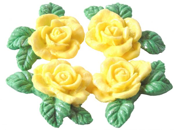 Yello n Garlands cake decorations