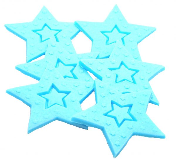 Blue Large edible Stars cake toppers