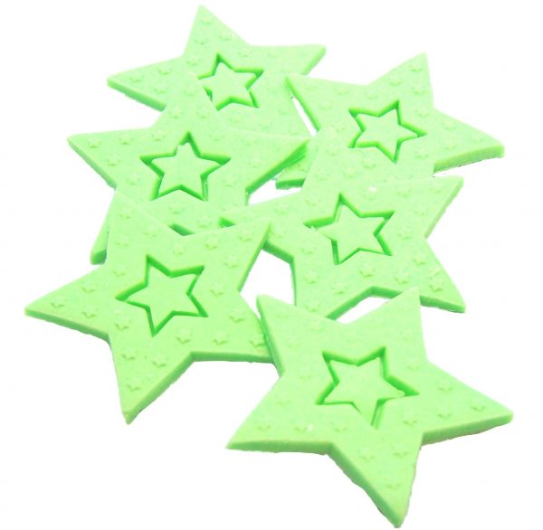 gren Large edible Stars cake toppers
