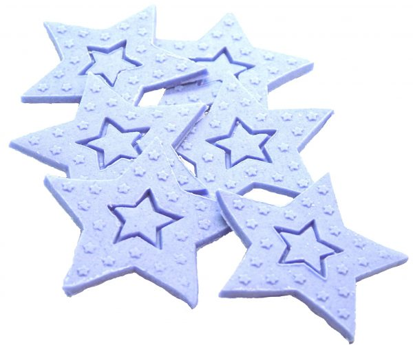 Purple Large edible Stars cake toppers