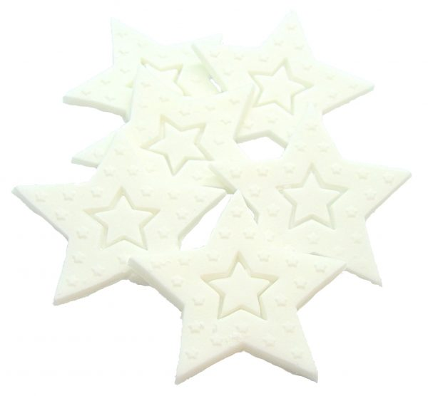 White Large edible Stars cake toppers