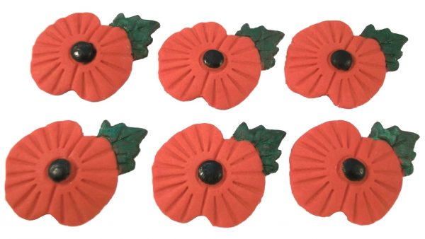Edible poppy fund raising cupcake toppers & cake decorations