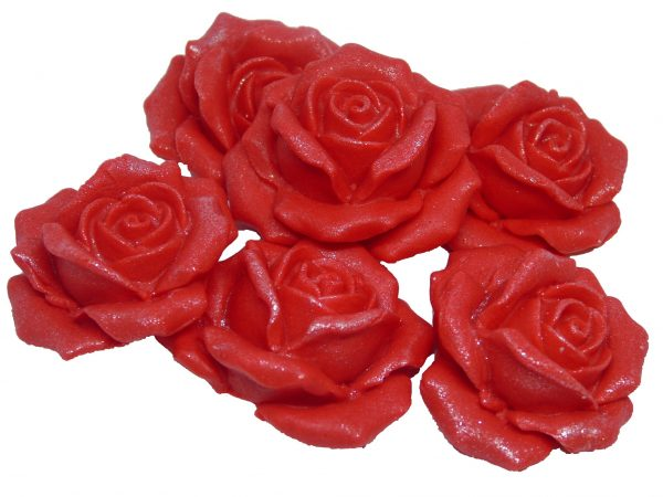 Red Large 3d rose cake topper decorations