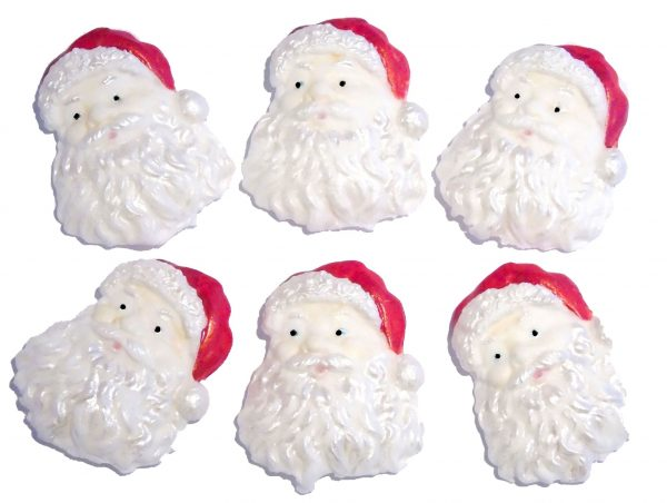 Santas christmas cake decorations