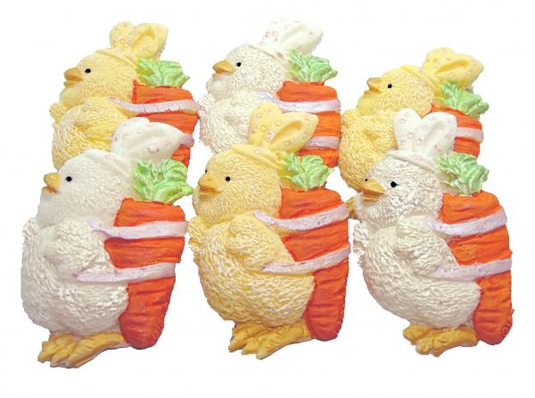 White Yellow Chicks Carrot cupcake cake decorations