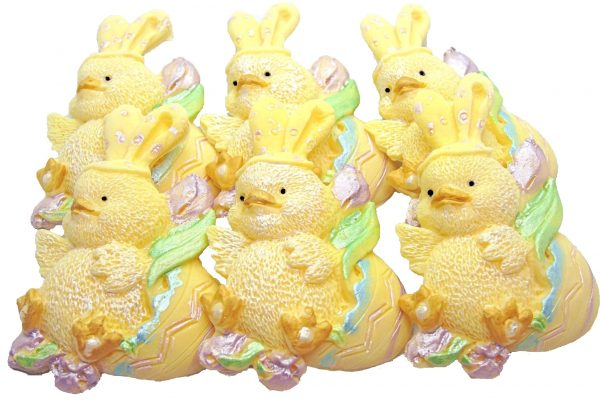 Yellow Easter chick cupcake cake decorations
