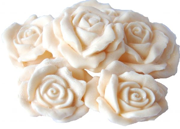 ivory Large 3d rose cake topper decorations
