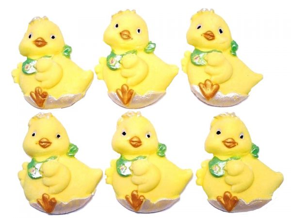cute edible chicks cupcake toppers and cake decorations