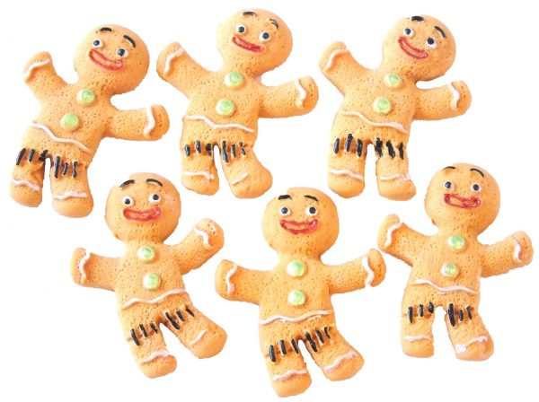 Ginger bread men cupcake toppers