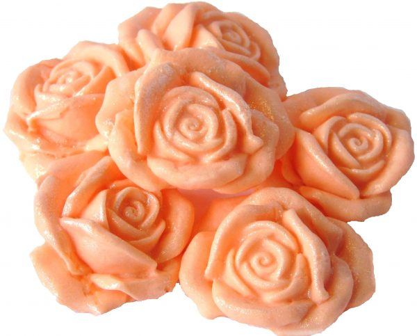 peach Large 3d rose cake topper decorations