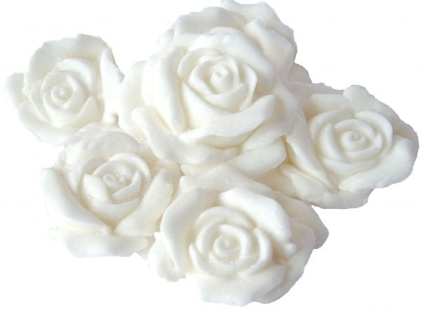 White Large 3d rose cake topper decorations
