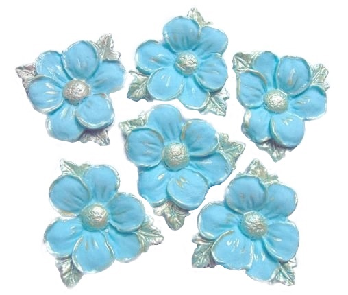 blue edible wedding flower decorations