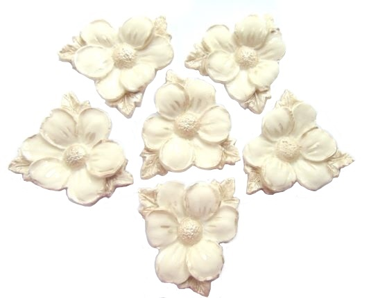 White edible wedding flower decorations