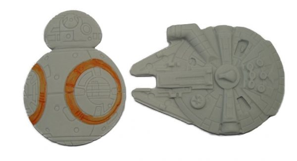 mixed space ships cake toppers