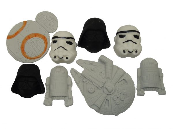 Mixed star wars cake decorations