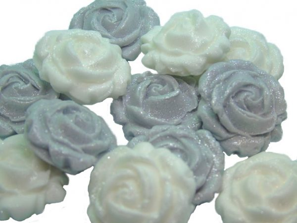 New small roses set silver white
